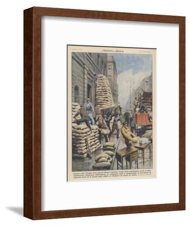 Londoners Prepare Blitz-Achille Beltrame-Framed Giclee Print