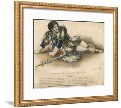 Edmund Kean English Actor in the Role of Shakespeare's Richard III-W. Gear-Framed Giclee Print