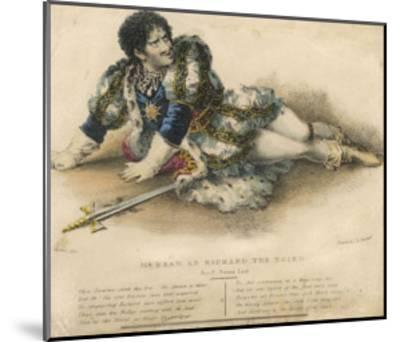 Edmund Kean English Actor in the Role of Shakespeare's Richard III-W. Gear-Mounted Giclee Print