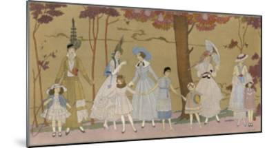 Summertime Fashions for Women and Girls by Paquin Doucet-Georges Barbier-Mounted Giclee Print