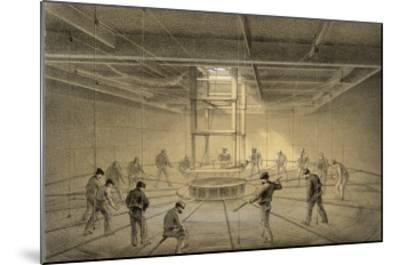 """The Cable Passes out from the Hold of the """"Great Eastern"""" onto the Deck-Robert Dudley-Mounted Giclee Print"""