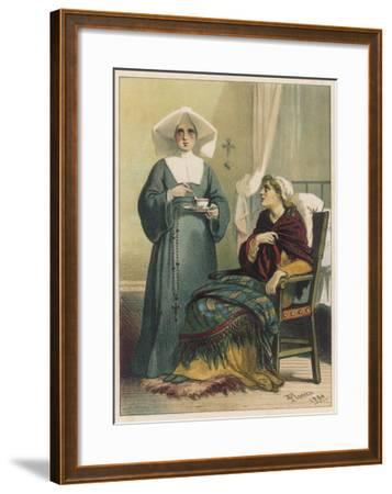Sick Looking Patient and Her Nurse-D^ Euesbio-Framed Giclee Print