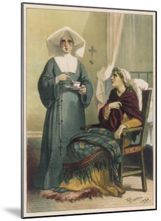Sick Looking Patient and Her Nurse-D^ Euesbio-Mounted Giclee Print
