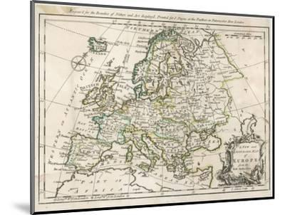 Map of Europe-J^ Gibson-Mounted Giclee Print