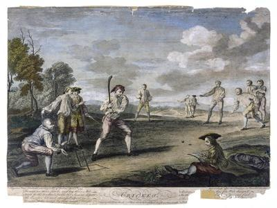 Cricket Match at the Artillery Ground London- Benoist-Stretched Canvas Print