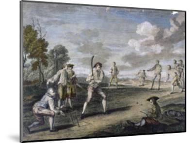 Cricket Match at the Artillery Ground London- Benoist-Mounted Giclee Print