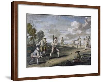 Cricket Match at the Artillery Ground London- Benoist-Framed Giclee Print