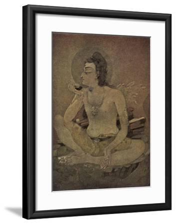 The God Shiva Saves Humanity by Drinking the Pois-Nanda Lal Bose-Framed Giclee Print