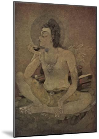 The God Shiva Saves Humanity by Drinking the Pois-Nanda Lal Bose-Mounted Giclee Print
