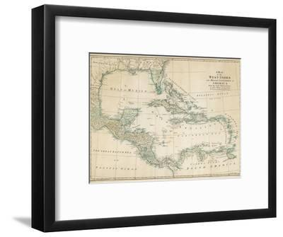 The Caribbean with the West Indies and the Coasts of the United States and the Spanish Possessions-John Blair-Framed Premium Giclee Print