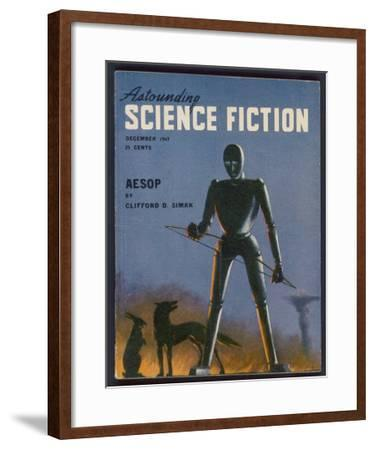 Aesop, a Rather Sad-Looking Robot- Alejandro-Framed Giclee Print