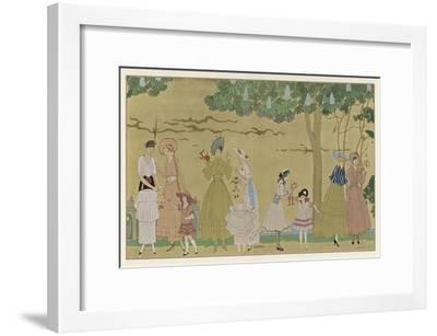 Vichy Fashions 1915-Georges Barbier-Framed Premium Giclee Print