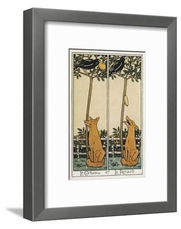 The Fox and the Crow-T^c^ Derrick-Framed Giclee Print