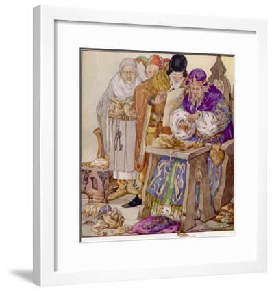 The King was in His Counting- House Counting out His Money-Anne Anderson-Framed Giclee Print