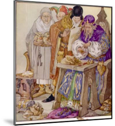 The King was in His Counting- House Counting out His Money-Anne Anderson-Mounted Giclee Print