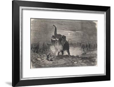 An Intrepid Hunter Takes-Gustave Dor?-Framed Giclee Print