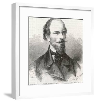 Henri Mouhot French Naturalist and Explorer-L. Dumons-Framed Giclee Print