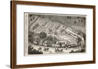 Regent's Park London: a Bird's Eye View of the Gardens of the Zoological Society-I. Dodd-Framed Giclee Print