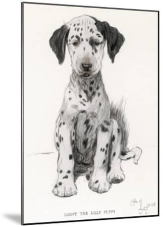 Loopy the Ugly Puppy-Cecil Aldin-Mounted Giclee Print