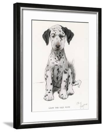 Loopy the Ugly Puppy-Cecil Aldin-Framed Giclee Print