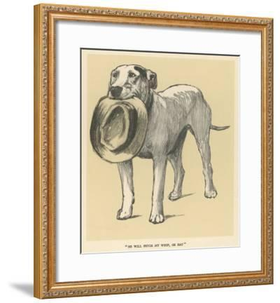 Dog Trained to Fetch His Master's Hat-Cecil Aldin-Framed Giclee Print