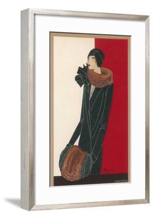 Coat by Patou-C. Benigni-Framed Giclee Print