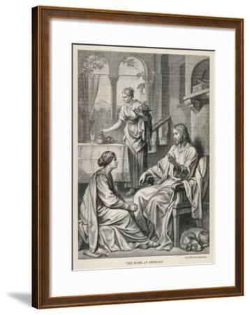 Jesus Talks with Mary While Martha Does Housework-Heinrich Hofmann-Framed Giclee Print