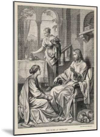 Jesus Talks with Mary While Martha Does Housework-Heinrich Hofmann-Mounted Giclee Print