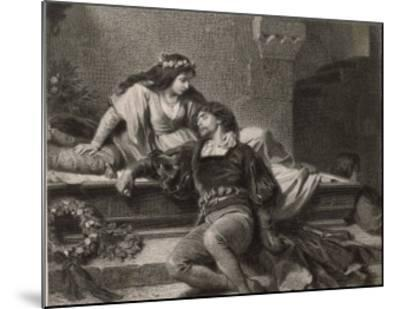Romeo and Juliet, Act V Scene III: Juliet Wakes in the Vault to Find Romeo Dead-G. Goldberg-Mounted Giclee Print