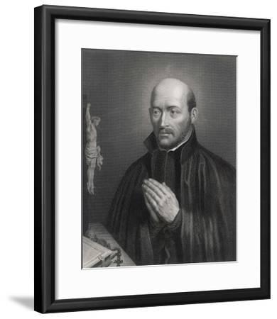 Ignatius Loyola Spanish Saint Founder of Society of Jesus (Jesuits) in an Attitude of Prayer-C. Holl-Framed Giclee Print