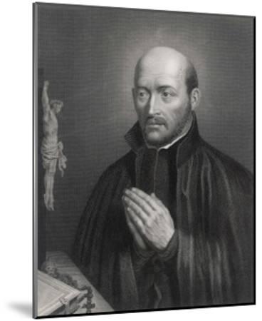 Ignatius Loyola Spanish Saint Founder of Society of Jesus (Jesuits) in an Attitude of Prayer-C. Holl-Mounted Giclee Print