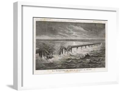 Tay Bridge Bridge Collapses During a Storm with Disastrous Consequences-Henri Meyer-Framed Giclee Print