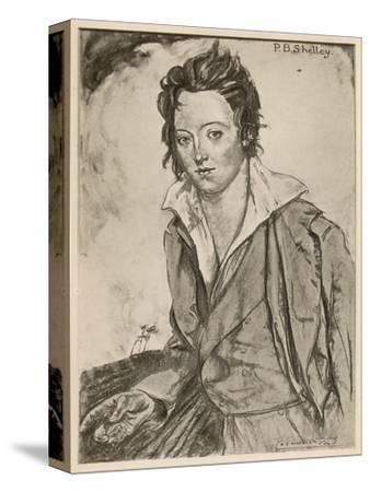 Percy Bysshe Shelley Writer-A.s. Hartrick-Stretched Canvas Print