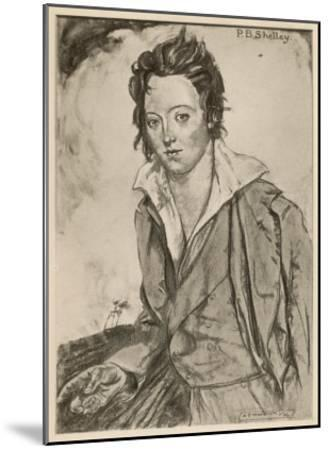 Percy Bysshe Shelley Writer-A.s. Hartrick-Mounted Giclee Print