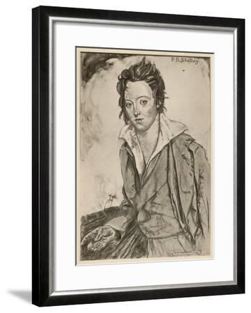 Percy Bysshe Shelley Writer-A.s. Hartrick-Framed Giclee Print