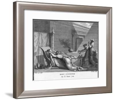 Marcus Antonius Believing Cleopatra Dead Kills Himself to Cleopatra's Distress-Augustyn Mirys-Framed Giclee Print