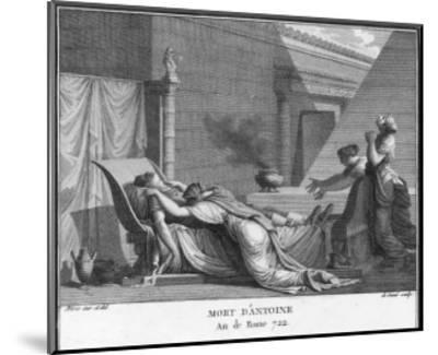 Marcus Antonius Believing Cleopatra Dead Kills Himself to Cleopatra's Distress-Augustyn Mirys-Mounted Giclee Print