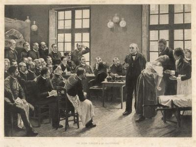 Charcot and Asylum Patient-A. Lurat-Stretched Canvas Print