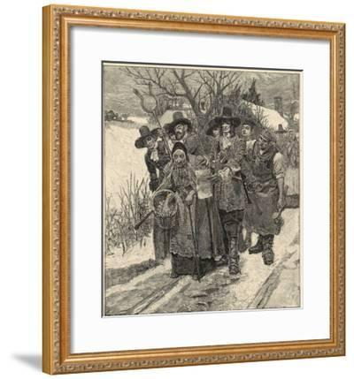 An Old Woman is Arrested as a Witch-Howard Pyle-Framed Giclee Print