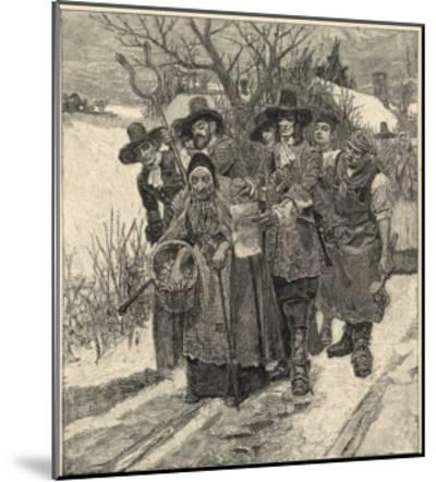 An Old Woman is Arrested as a Witch-Howard Pyle-Mounted Giclee Print