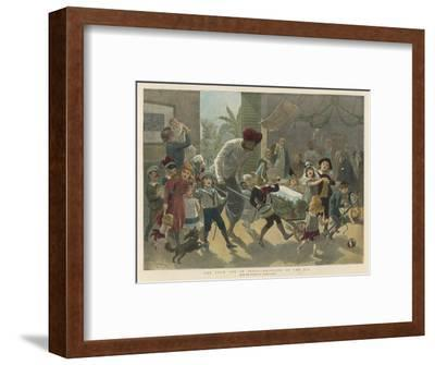 British Residents in India Bring in a Bar of Ice Instead of the Traditional Yule Log-Adrien Marie-Framed Giclee Print