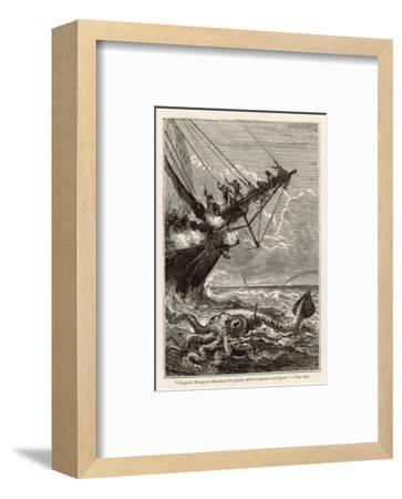 20,000 Leagues Under the Sea: Attacking a Giant Squid-Hildebrand-Framed Premium Giclee Print