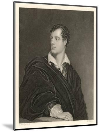 George Gordon Lord Byron English Poet in 1814- Moto-Mounted Giclee Print