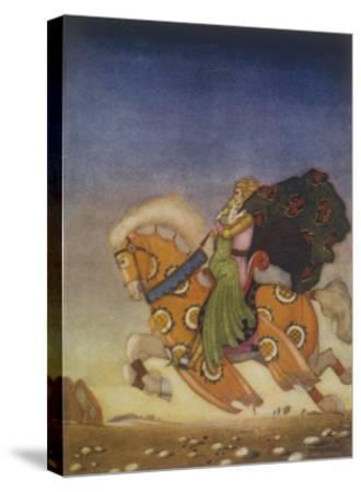 Tristram Carries Isolde Away to be His Uncle's Wife- Mackenzie-Stretched Canvas Print