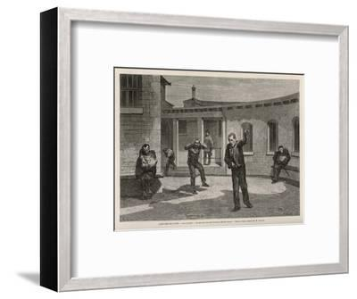 Sainte-Anne Asylum on the Outskirts of Paris, The Quarter for Violent and Insane Patients-A. Lancon-Framed Premium Giclee Print