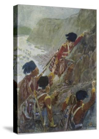 Quebec: The British Troops Scale the Heights of Abraham-Henry Sandham-Stretched Canvas Print