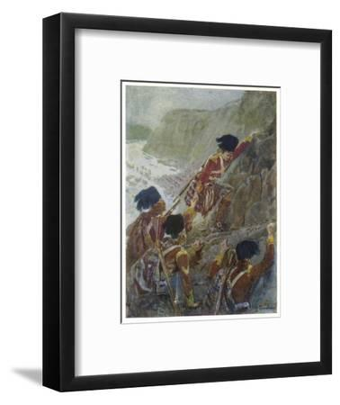 Quebec: The British Troops Scale the Heights of Abraham-Henry Sandham-Framed Giclee Print