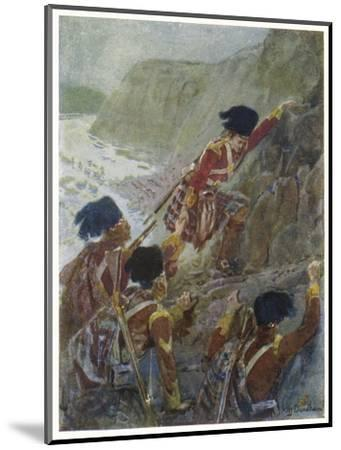 Quebec: The British Troops Scale the Heights of Abraham-Henry Sandham-Mounted Giclee Print