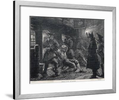 Press-Gang at Work-Paul Hardy-Framed Giclee Print