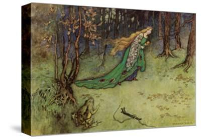 Frog Prince-Warwick Goble-Stretched Canvas Print